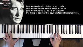 Je te promets - Johnny Hallyday - piano cover