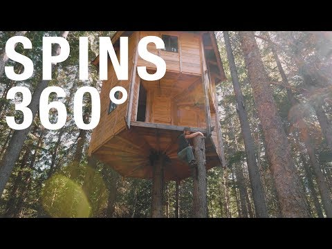 Worlds First Rotating Two Story Tree House (How It Was Built)