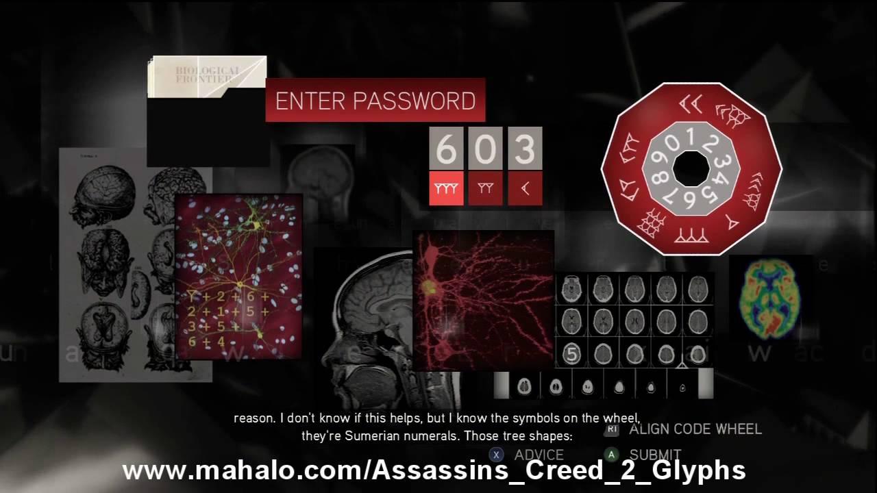 Assassin's Creed 2 Walkthrough - Glyph Puzzle #18 HD
