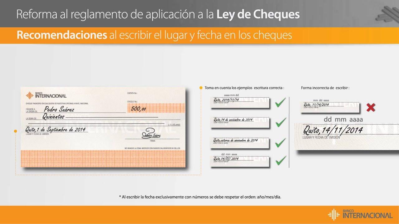 Banco internacional ley de cheques youtube for Banco internacional