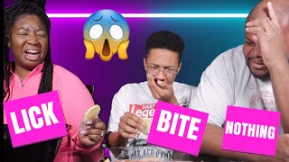 BITE, LICK OR NOTHING CHALLENGE!!! 123 GO.......