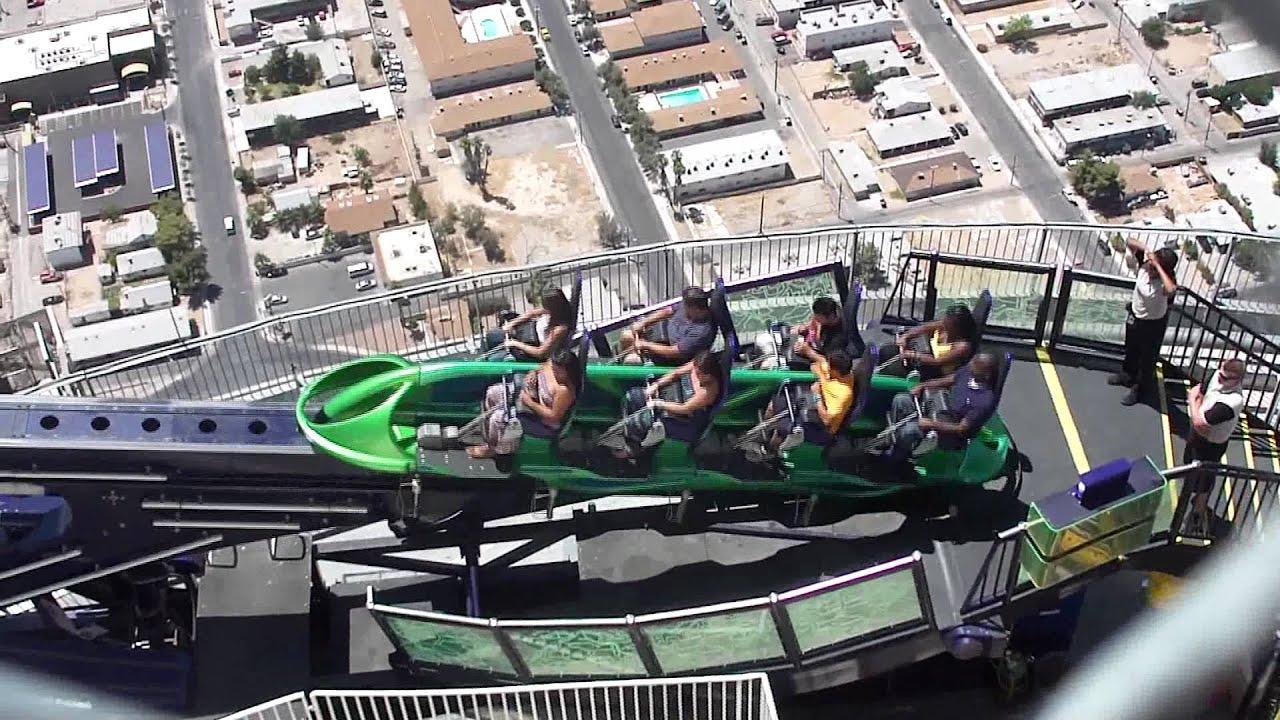 Las Vegas Stratosphere Hotel X Scream Ride Hd Youtube