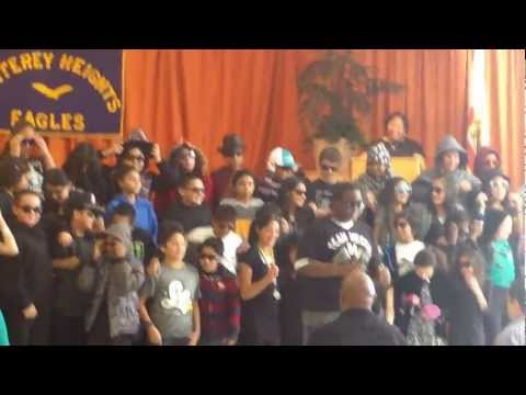 Monterey Heights Elementary School 6th grade class Peace Performance