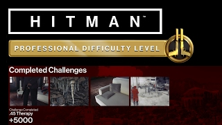 HITMAN Professional Mode Challenges - Sapienza - .45 Therapy, Fatal Reaction + 2 More