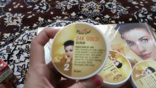 1 week skin whitening program |24 k gold facial | Bee one Gold facial kit review