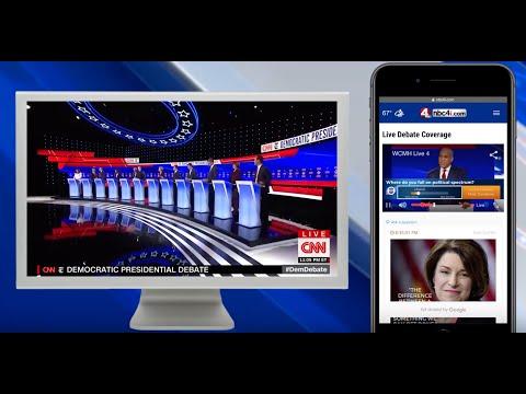 WCMH Columbus: Pre-Debate Stream & Democratic Debate Second Screen Experience