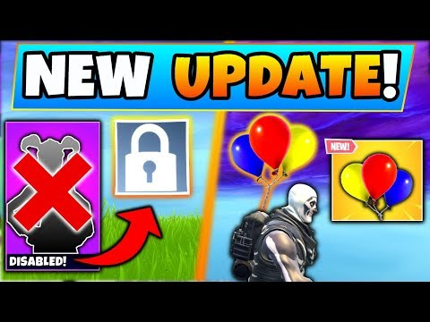 Fortnite Update: SKIN REMOVED + NEW BALLOONS ITEM! - 9 New Things Coming to Battle Royale!
