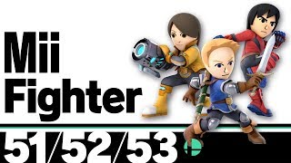 51-53: Mii Fighter - Super Smash Bros. Ultimate