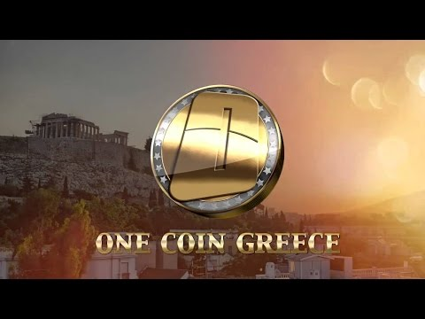 OneCoin concept presentation with Greek subtitles