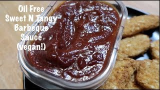 Oil Free Sweet N Tangy Barbecue Sauce (vegan!)