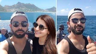 Virat Kohli Anushka Sharma Enjoying Boat Ride With Indian Cricket Team In South Africa