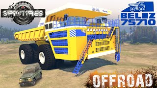 SpinTires BELAZ 75710 The Biggest Dump Off-road Test