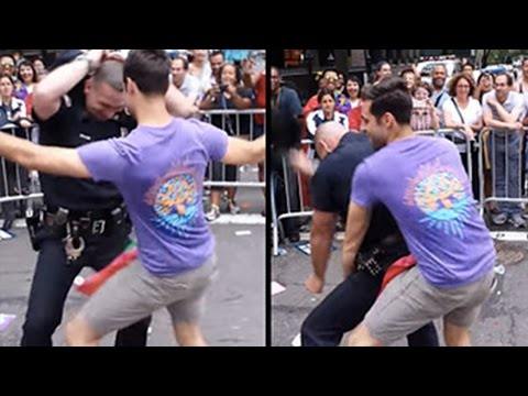 Cop Shows Off His Amazing Dance Moves At NYC Gay Pride Parade