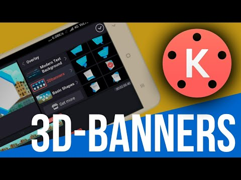 Apply 3D Banners/Lowerthirds In Your Video By Kinemaster video editing app