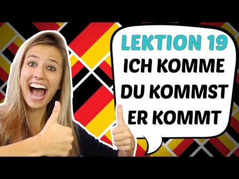 GERMAN LESSON 19: EASY Conjugation of German REGULAR VERBS