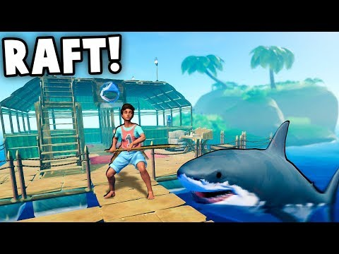 The NEW Raft is AMAZING!  Mysterious Islands, Shark Attacks!  (Raft Gameplay Part 1)