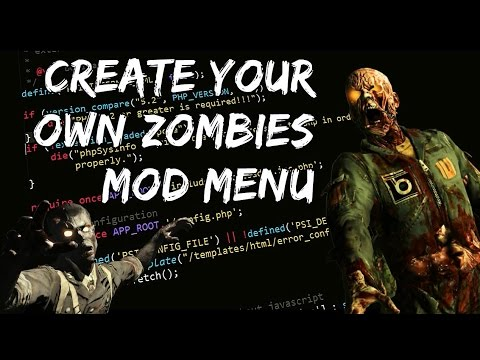 How to Make Your Own Online USB Black Ops Zombies Mod Menu! (DETAILED)