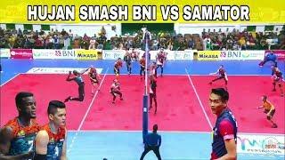 HUJAN SMASH BNI VS BHAYANGKARA SAMATOR SET 2 PROLIGA 2019