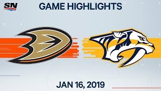 NHL Highlights | Ducks vs. Predators – Jan. 16, 2020