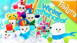 DIY Stiftehalter   Winter DIY   Advent basteln   Schneemann basteln    Kinderkanal 137
