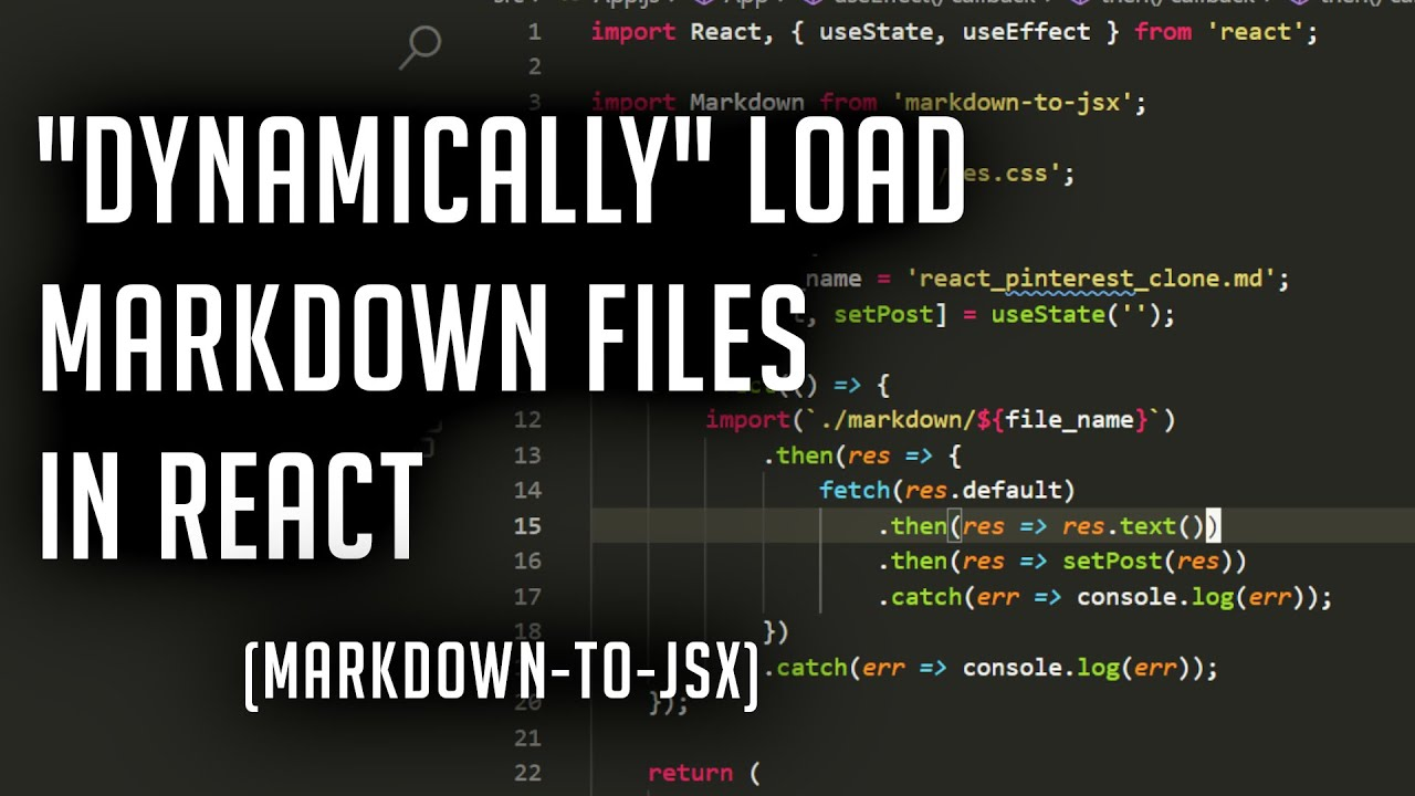 Dynamically Load Markdown Files into React for Your Blog   markdown-to-jsx
