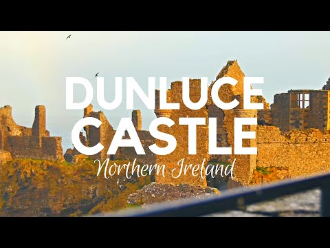 DUNLUCE CASTLE - Stunning Castle Ruins on Cliffs in Northern Ireland