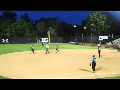 Wimmer out for runner interference Northern-Calvert/C.M. Wright softball 3A state finals 5/22/15