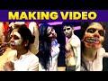 Viralchithra & kumaran horror makeup making jodi no.1 dance show cineulagam