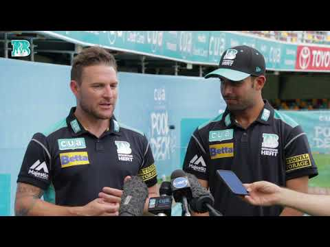 Brendon McCullum & Shadab Khan - Press Conference