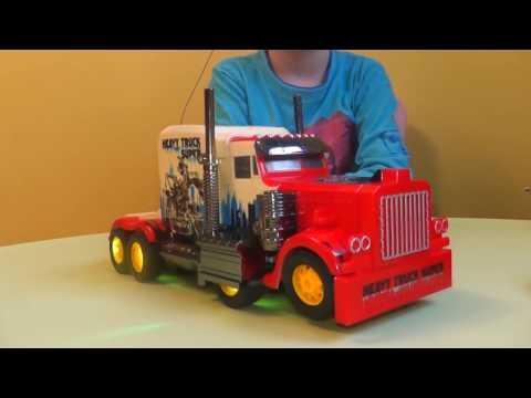 ТРАНСФОРМЕРЫ автобот ОПТИМУС ПРАЙМ на пульте управления Optimus Prime ИГРУШКИ ИЗ МУЛЬТИКА распаковка