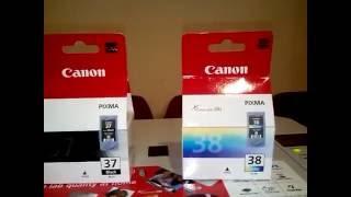 Устанавливаем новые картриджи в струйный МФУ Canon MP220 ошибка U051