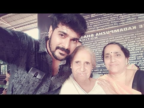 """Srinish Aravind"" as Manu in  Malayalam serial ""ammuvinte amma"" with family"
