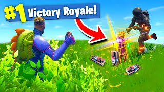 The *EXPLOSIVE* INFINITY GAUNTLET TRAP In Fortnite Battle Royale!