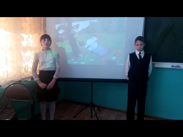 Изображение предпросмотра прочтения – «Коллектив учащихся 5 класса» читает произведение «Ворона и Лисица» И.А.Крылова
