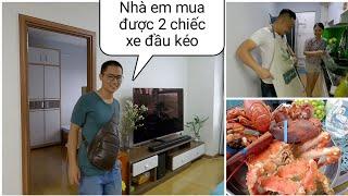 Thăm nhà youtuber Phạm Dũng - Sốc với mâm hải sản siêu to khổng lồ | Xe Đầu Kéo Vlog #136