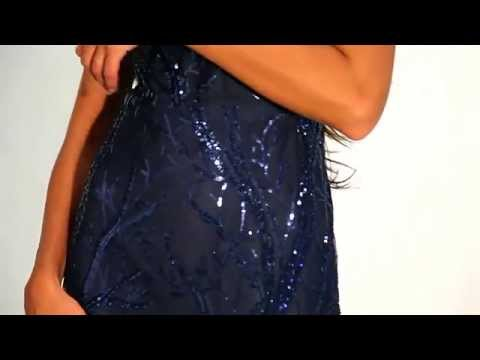 MAXI DRESS WITH HEAVILY SEQUIN EMBELLISHED DESIGN