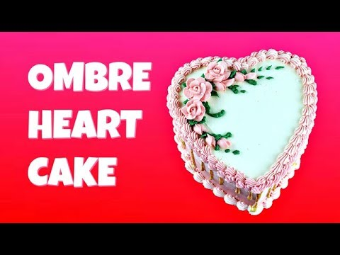 Ombre Heart Cake for Valentine\'s Day || Gretchen\'s Vegan Bakery ...