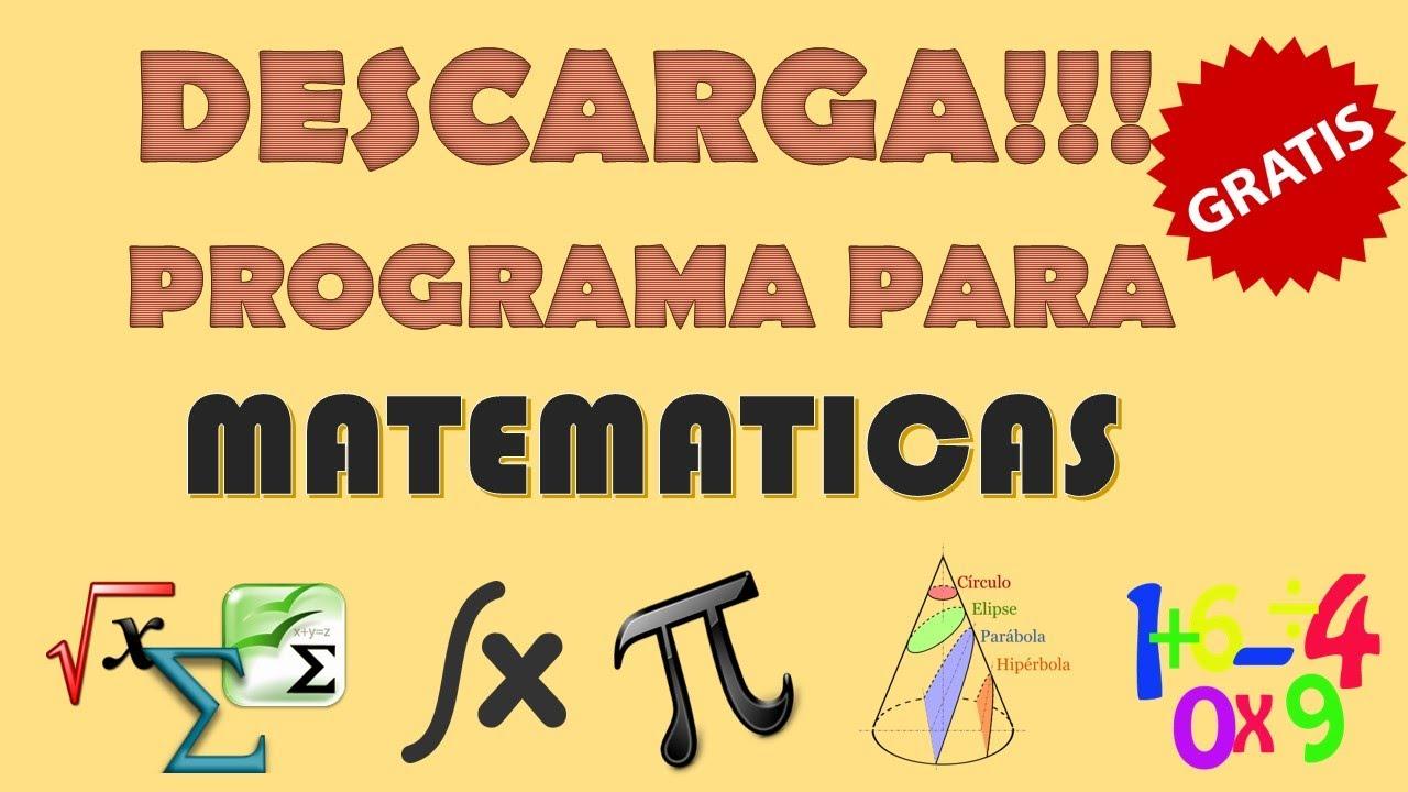 Descargar programa para hacer ejercicios matemáticos - YouTube