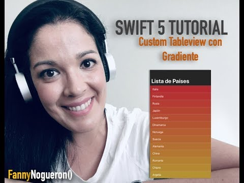 SWIFT 5 | TUTORIAL | TABLEVIEW CON GRADIENTE DE COLOR thumbnail