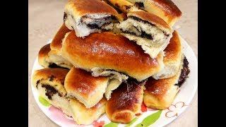 Воздушные Булочки с Маком из Дрожжевого Теста/Сдобное Тесто для Пирожков с Маковой Начинкой
