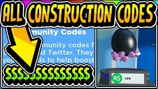 """""""🔨ALL CONSTRUCTION SIMULATOR PETS UPDATE 3 CODES 2019!!"""" 🔨Construction Simulator [PETS] (Roblox)"""