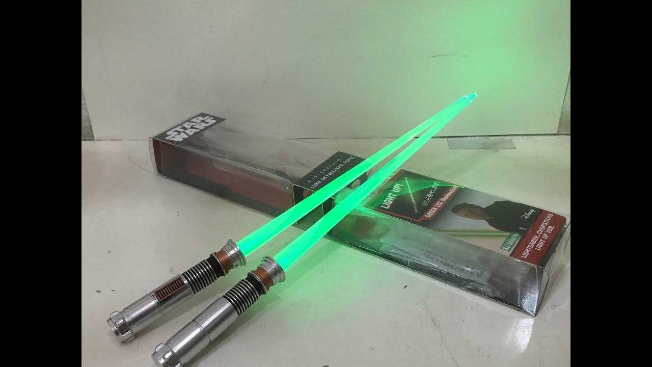 Star Wars Luke Skywalker Episode Vi Lightsaber Chopsticks Light Up Version Review Youtube