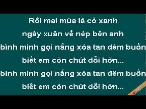 Biet Em Con Chut Doi Hon Karaoke - Hồng Nhung - CaoCuongPro