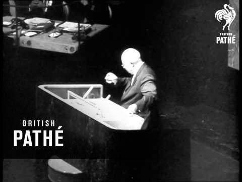 Khruschev Speaks At UN  (1960)