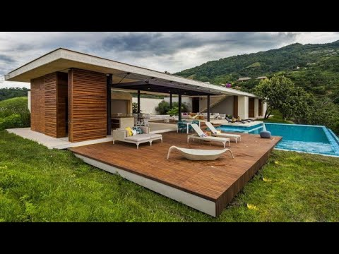 Modern Country Home In Colombia Adorns The Landscape With Its Refreshing Design Youtube