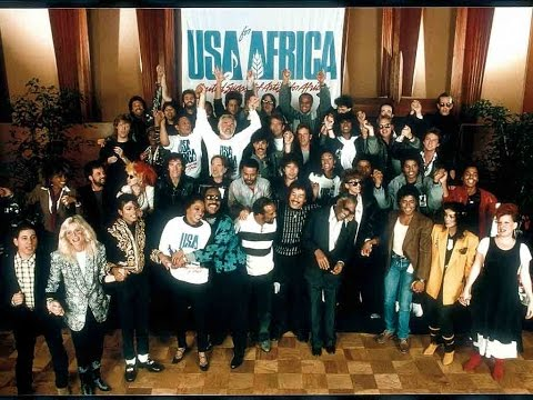 We are the world with artist singer names usa for africa