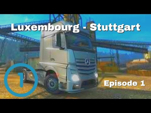 Euro Truck Simulator 2 - Luxembourg to Stuttgart // Plastic Films Road (Stupid Crashes)
