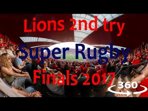 Lions second try against the Crusaders – 360° video (Super Rugby Final 2017)