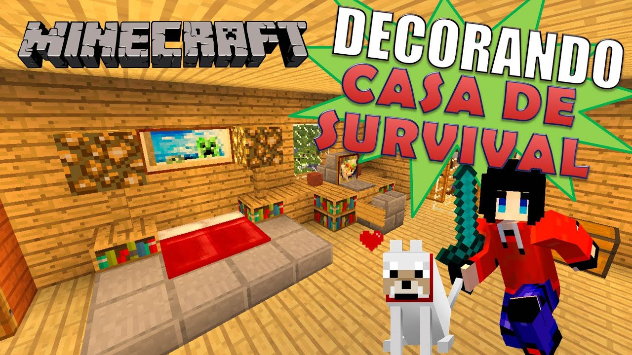 Minecraft decorando casa de serie survival hd tutorial for Casa moderna rey zerch