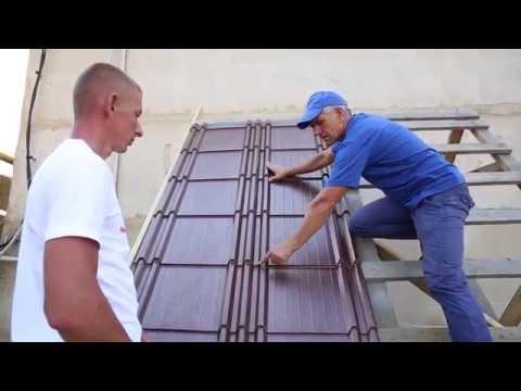 видео: Монтаж металлочерепицы Капелла - подробная видео инструкция